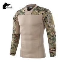 Military Generation II Mens Camouflage Frog Shirt Long Sleeve Brand Cotton Casual Tactical T Shirt Men Training Shirts 2XL BF657