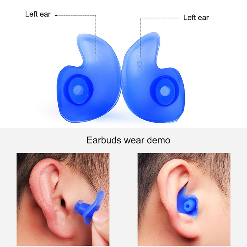 2 Pcs Waterproof Swimming Pro Silicone Swim Earplugs Adult Swimmers Kids Diving Soft Anti-Noise Earplug Ear Protect
