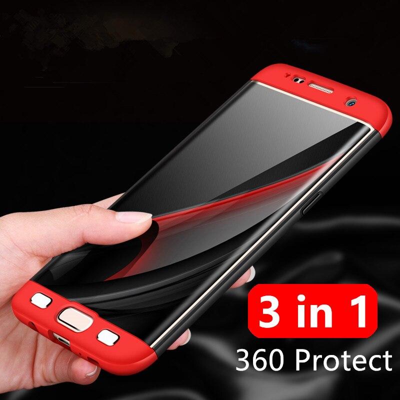 Für Samsung Galaxy S8 Hülle S8 Plus Abdeckung Hard PC 3 in 1 360 - Handy-Zubehör und Ersatzteile