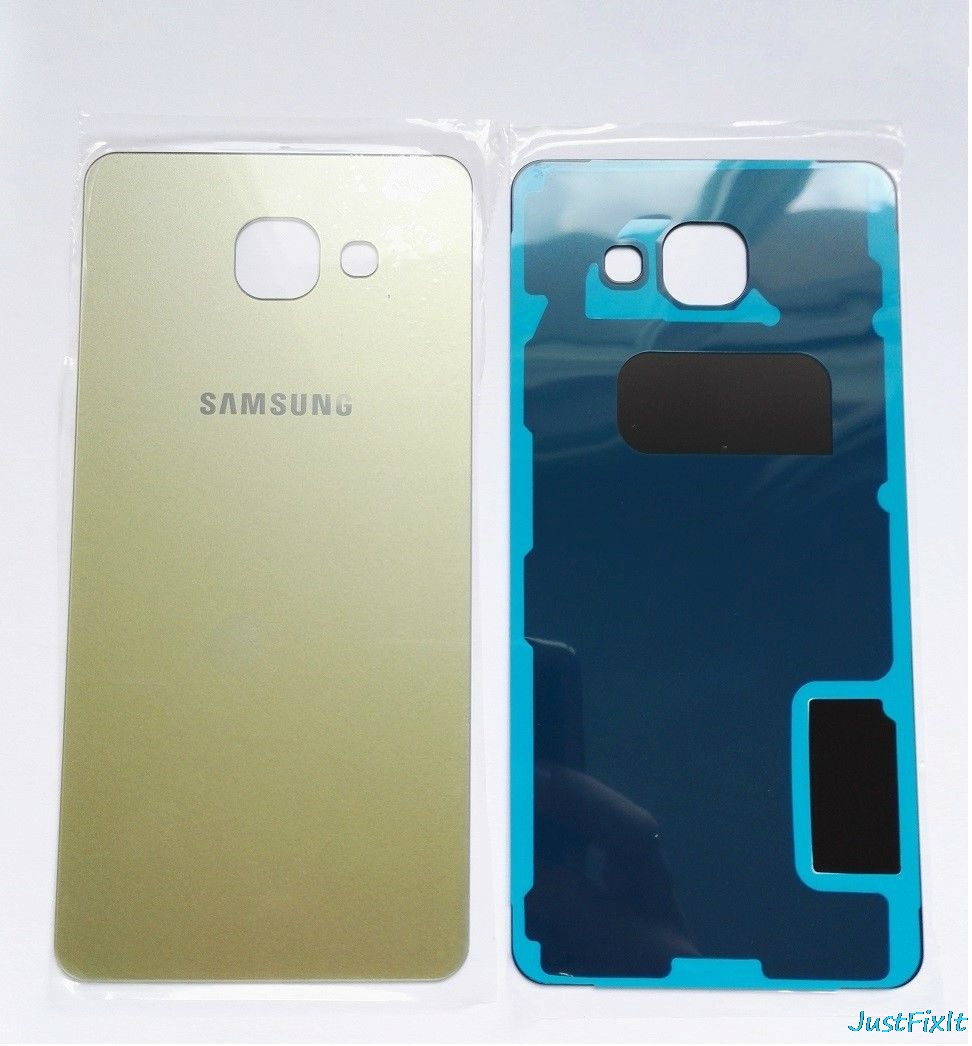 Back Battery Rear Glass Cover For Samsung Galaxy A3 A5 A7 2016 A310 A510 A710 Battery Case Housing Adhesive Sticker