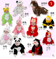 Varejo roupas de criança crianças roupas girls & boys Romper Animal Dos Desenhos Animados Macacão espessamento amassado bebê jaqueta de outono & inverno