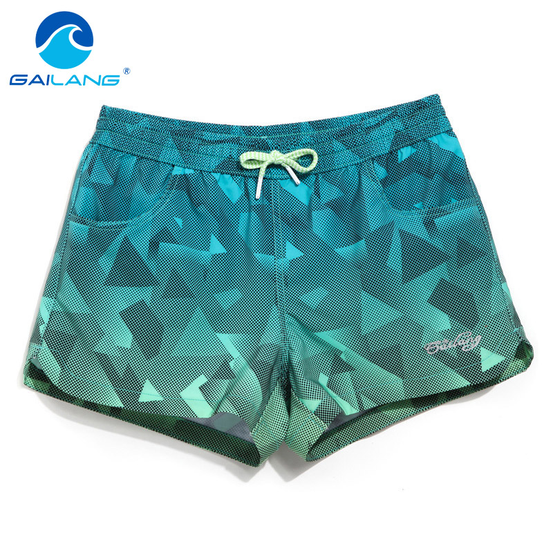 Gailang Brand Women Beach Board Shorts Casual Bottoms Fashion Plus Big Size Quick Drying Fitness Jogger Boxer Trunks Swimwear