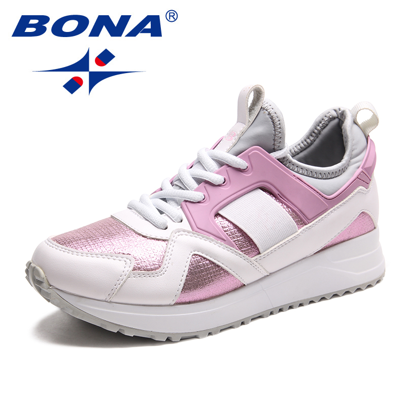 $33.39 BONA New Arrival Classics Style Women Running Shoes Outdoor Jogging Sneakers Lace Up Lady Athletic Shoes Soft Fast Free Shipping