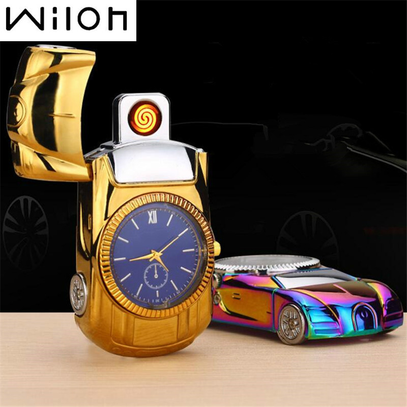 2017 Watch Lighter for gold Car model steel Men s toys collection cool Flameless Watch USB