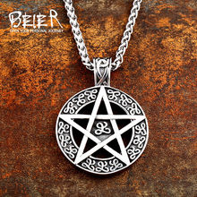 Beier 316L stainless steel Norse Vikings Pendant Amulet Pagan scandinavian c eltic Odin raven Original necklace Jewelry WR-P012(China)