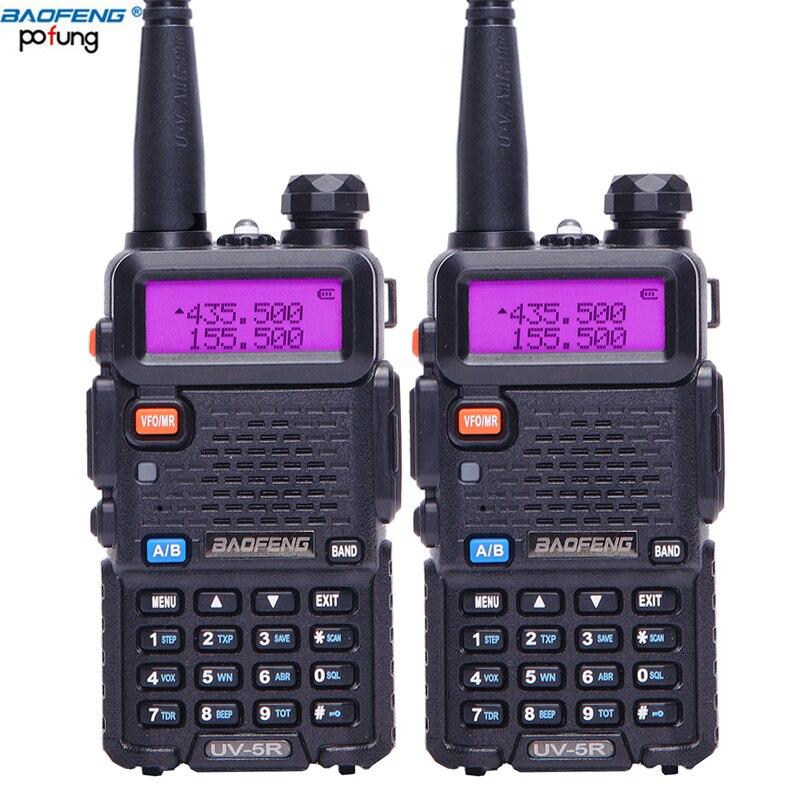 2PCS BaoFeng UV 5R VHF/UHF136 174Mhz&400 520Mhz Dual Band Walkie Talkie Two way radio Baofeng Handheld UV5R CB Portable Radio-in Walkie Talkie from Cellphones & Telecommunications    1
