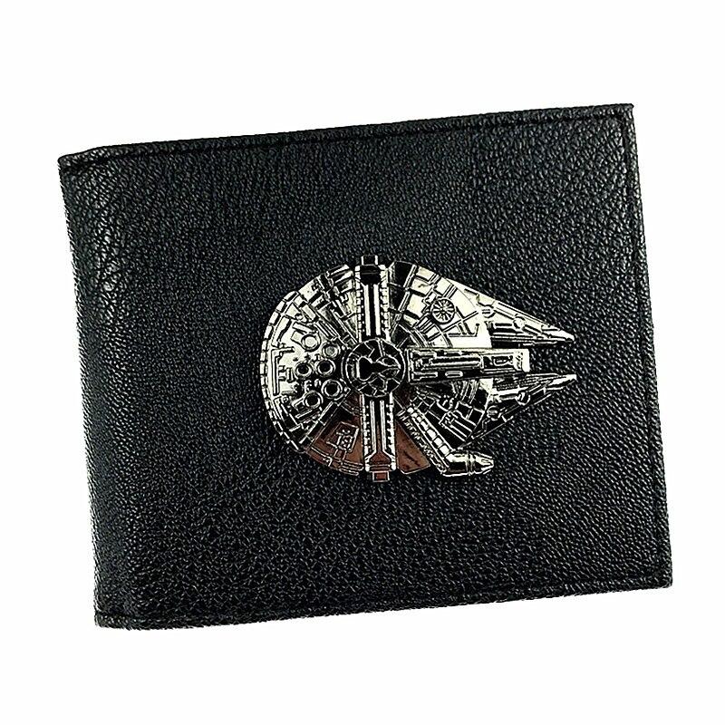 New Star Wars Wallet Millennium Falcon Model Design Short Purse K2SO Wallets