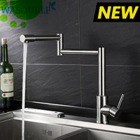 WASOURLF Adjustable kitchen faucet stainless steel tap durable valve hot and cold single handle high quality guarantee