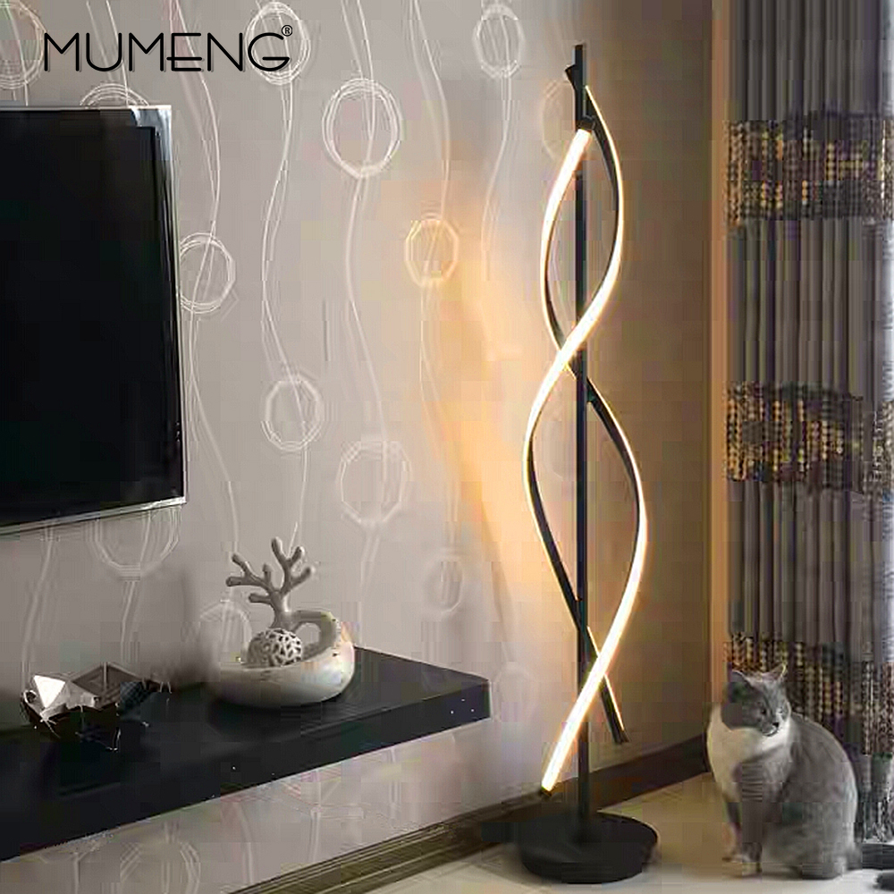 Moderna Lampada Da Terra a LED 100-240 v per Soggiorno In Piedi Palo Della Luce 30 w per la Famiglia Camere Camere Da Letto e gli uffici di Illuminazione Dimmerabile