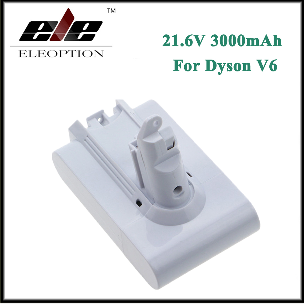 Eleoption 21.6V 3000mAh Li-ion Replacement Battery For Dyson V6 Mattress Cordless Handheld Vacuum Cleaner For Dyson DC58 DC59 for dyson dys 21 6v 3000mah 3 0ah v6 li ion electrical tools lithium battery dc59 dc62 dc72 965874 02 dc74