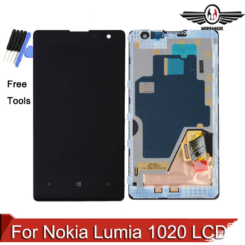 For Nokia Lumia 1020 LCD Display Touch Screen Digitizer LCD Assembly with Frame