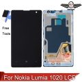 Para nokia lumia 1020 display lcd touch screen digitador assembléia lcd com frame