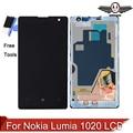 Para nokia lumia 1020 display lcd touch screen digitador assembléia lcd com frame