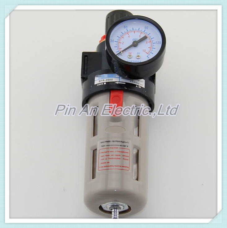 1/4 Pneumatic Source Treatment Unit BFR-2000 , Air Filter Pressure Regulator aw30 02e smc pressure regulating filter with bracket pneumatic air source