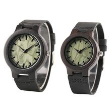 Couple Wirst Watch Bamboo Wooden Lovers' Watches Nature Handmade Men Women Valentine's Gift Sweet Honey Watch Gift Clock