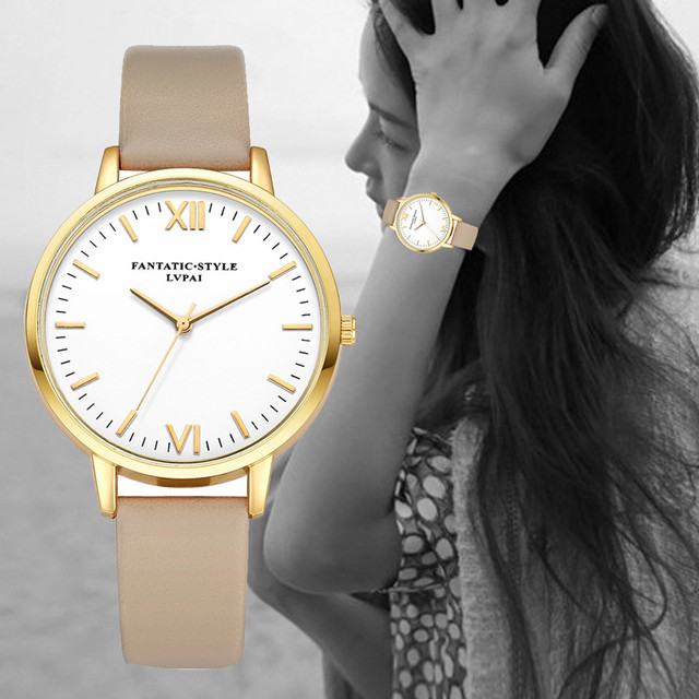 LVPAI Women watches Retro Design Leather Band Analog Alloy Quartz Wrist Watch fantatic style A20