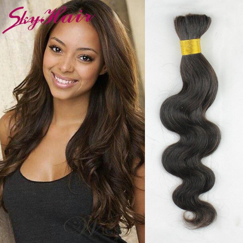 peruvian virgin hair body wave human braiding hair bulk 1pcs lot peruvian body wave human hair for micro braids no attachment