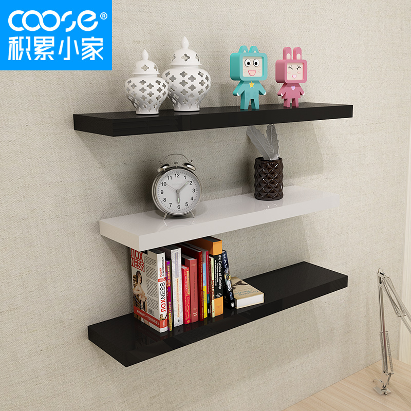 Accumulation of small home Ignatius paint wall rack depth of 20 partition wall  shelf shelving rack ...
