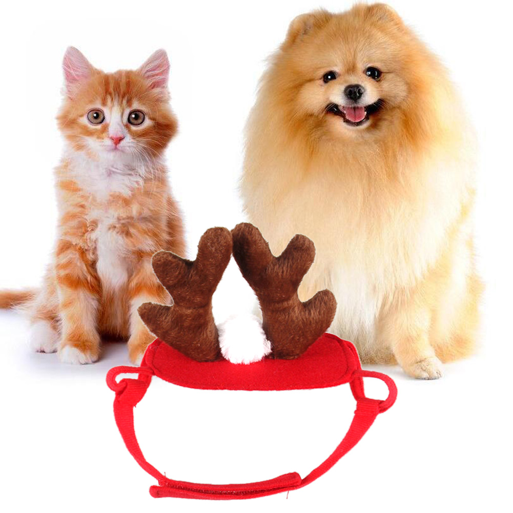 Cute Pet Dog Accessories Cat Antlers Hats Doggy Funny Hat