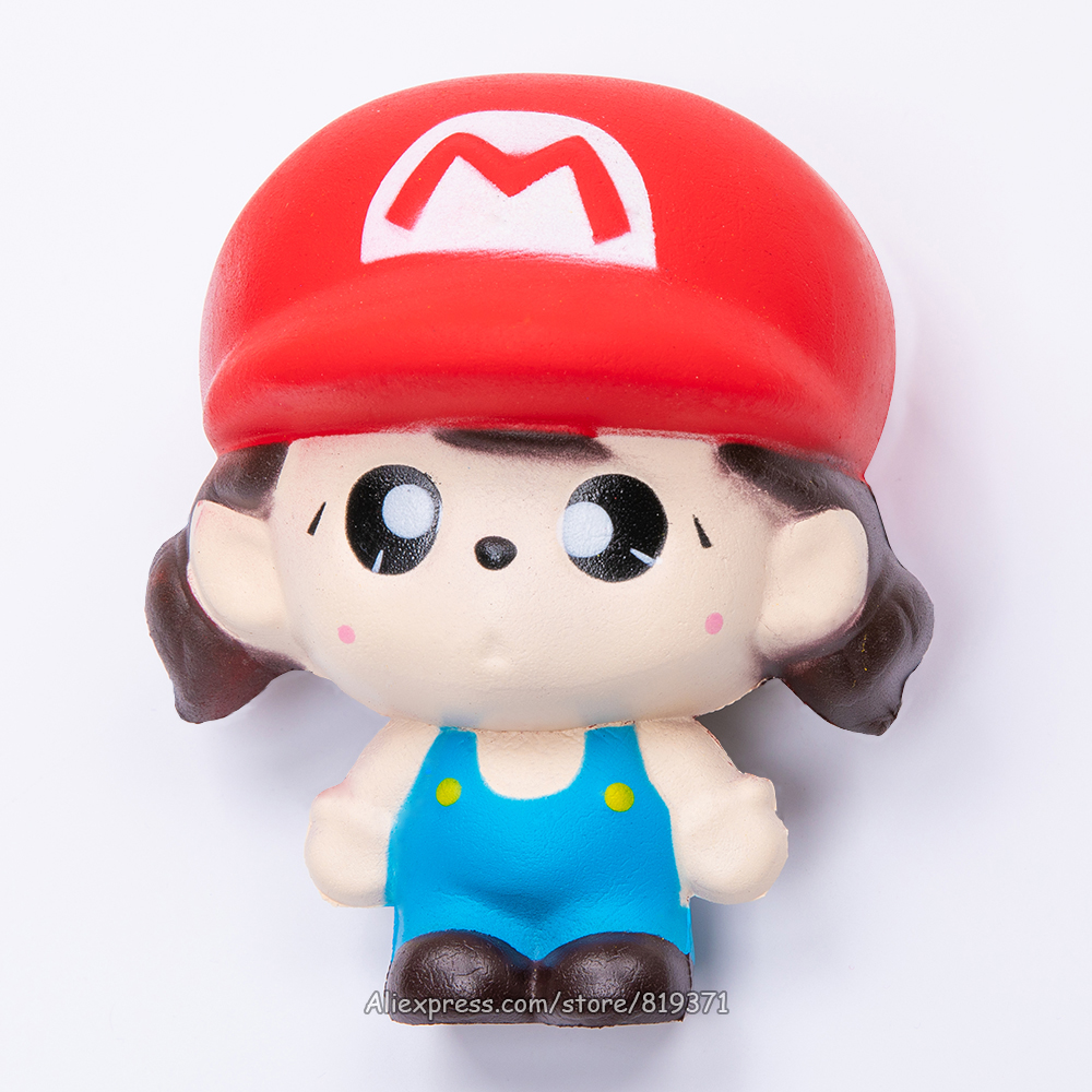Kawaii Cute Squishy Slow Rising Mario Animal Big Squeeze Scented Fun Autism Antistress Squishy Interesting Toy For Children
