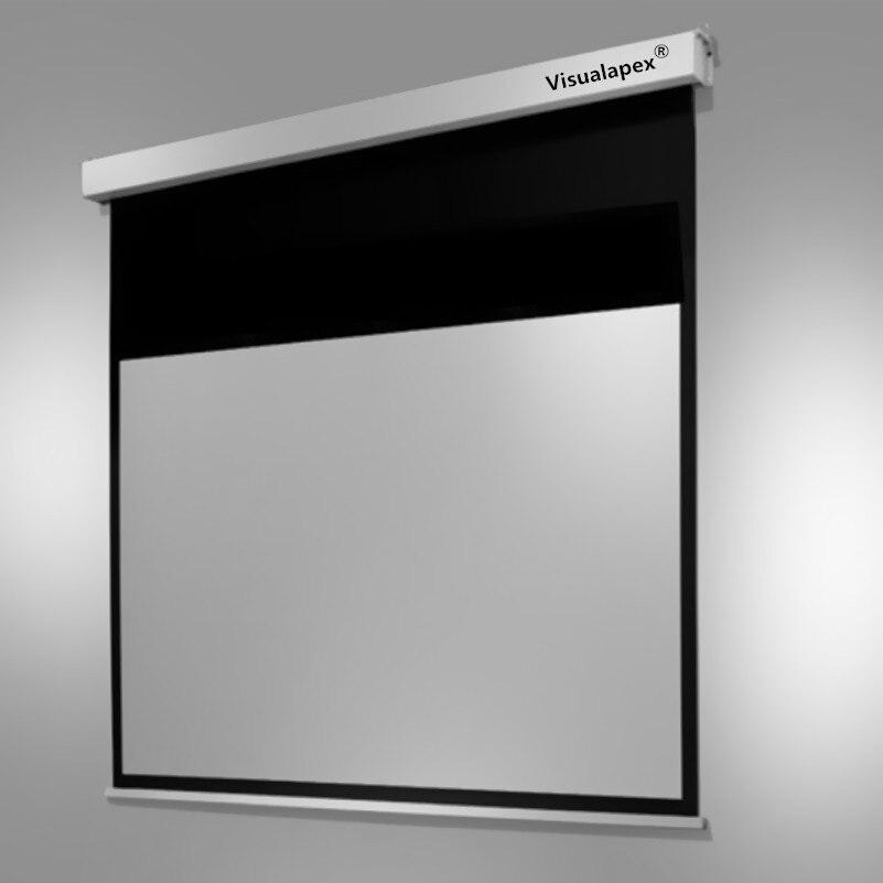 Tüketici Elektroniği'ten Projeksiyon Ekranları'de E4WGRY 16:10 Ekran Manto Elektrik Motorlu Otomatik HD Projeksiyon Ekranı  80 92 100 110 inç projeksiyon perdesi Mat Gri title=
