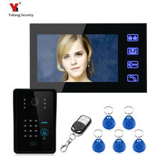 Yobang Security freeship 7inch monitor Video Intercom System RFID Password Keypad Doorbell Camera with hands-free access control