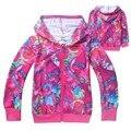 New Trolls Das Meninas Dos Meninos Casaco de algodão Dos Desenhos Animados jaqueta com capuz Para Meninas Traje Do Natal Crianças Roupas 4-12 Y Crianças roupas masculinas