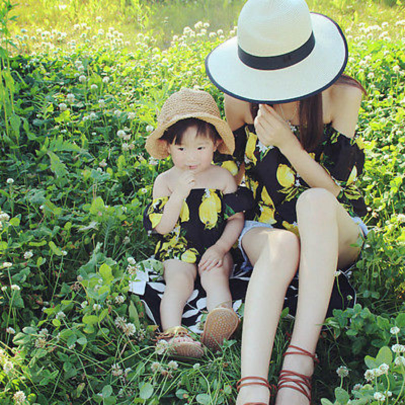 Family Matching Outfits Clothes Women Mother Kid Baby Girl O
