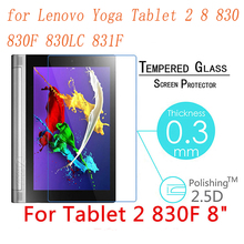 9H Screen Protector for Lenovo Yoga Tablet 2 8 Inch 830 830F 830LC 831F Prevent Scratch Tablet PC LCD Tempered Glass Film Guard df lsteel 07 для lenovo yoga tablet 8 прозрачная
