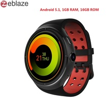 Zeblaze THOR 1.4inch Super AMOLED 400*400 CORNING Gorilla Glass3 Bigger 1GB+16GB GPS smartwatch phone