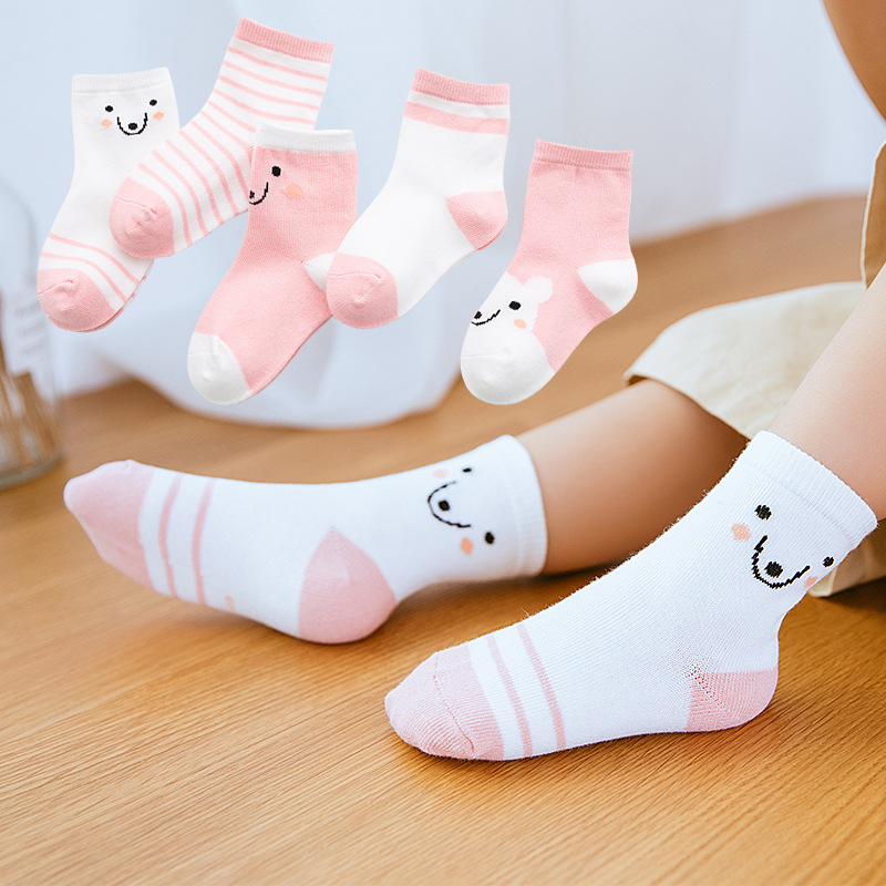5 Pairs Summer Cotton Socks For Newborns Baby Kids Cute Cartoon Socks For Girls Soft Ankle Socks Boys Children Socks Infant
