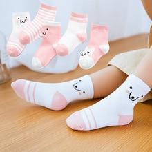 Socks Kids Newborns Baby Infant Boys Cotton Summer Cute 5-Pairs For Girls Cartoon Soft