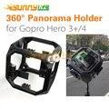 De montar todo caso de tiro de 360 grados panorama esférico sostenedor del marco de montaje para cámara gopro hero 3 3 + 4