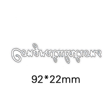 Congratulations Letters Die CutsMetal Cutting Dies In Scrapbooking Embossing Folder DIY Party