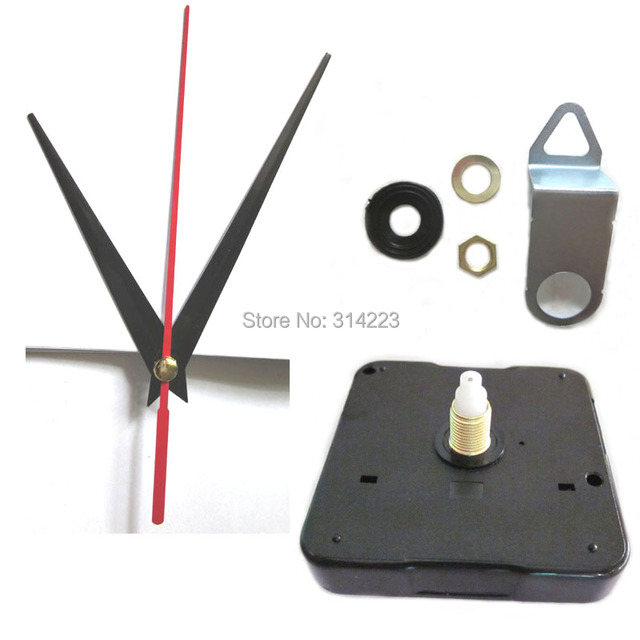 2 set Mute Quartz Clock Movement Kit Spindle Mechanism shaft 16.5mm DIY Clock parts FREE SHIPPING