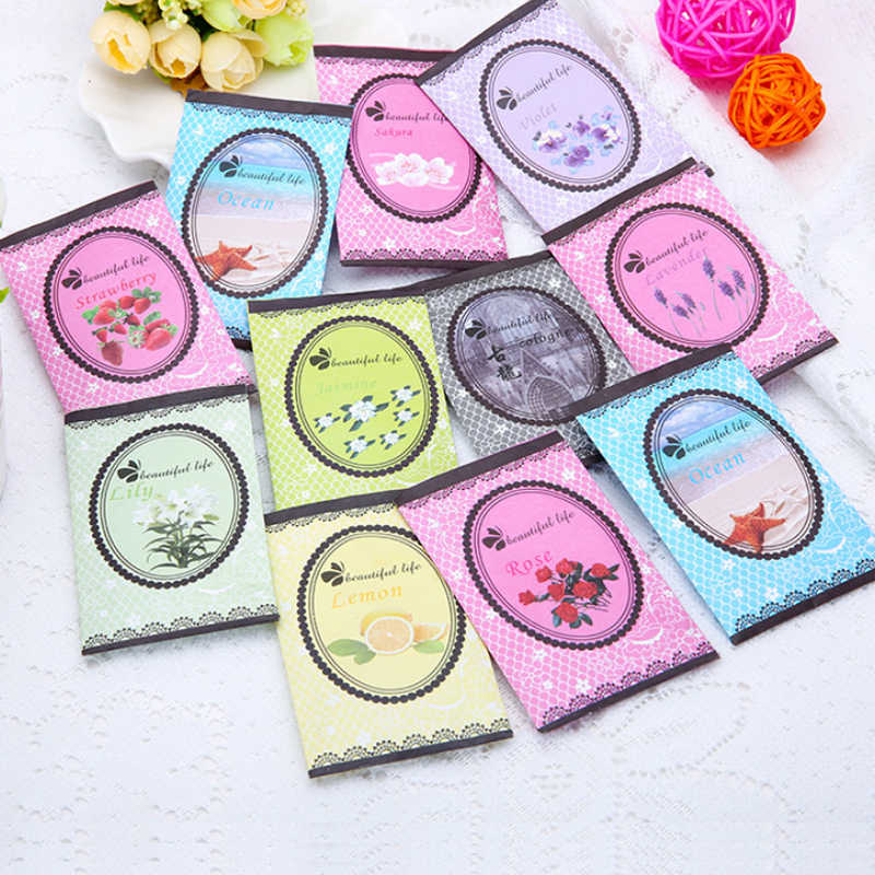 Hot 1PC Beautiful Life Vanilla Air Fresh Natural Smell Incense Candy Colour Wardrobe Sachet Aromatherapy Refreshing Scent Bag