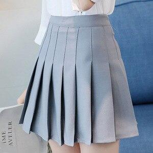 Image 2 - Kpop Ulzzang Black Pink Mini Skirt Women Summer 2019 Harajuku Kawaii Skirts Womens Korean Schoolgirl Streetwear Skirts