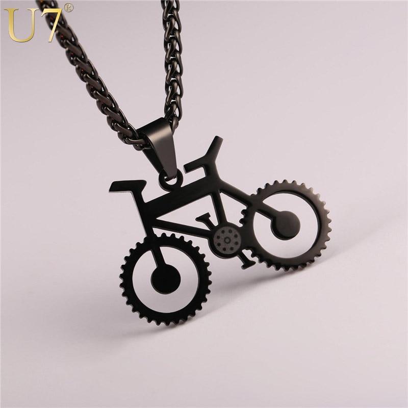 Womens Ladies Stainless Steel Black Red Bike Chain Mini Bracelet USA Seller!