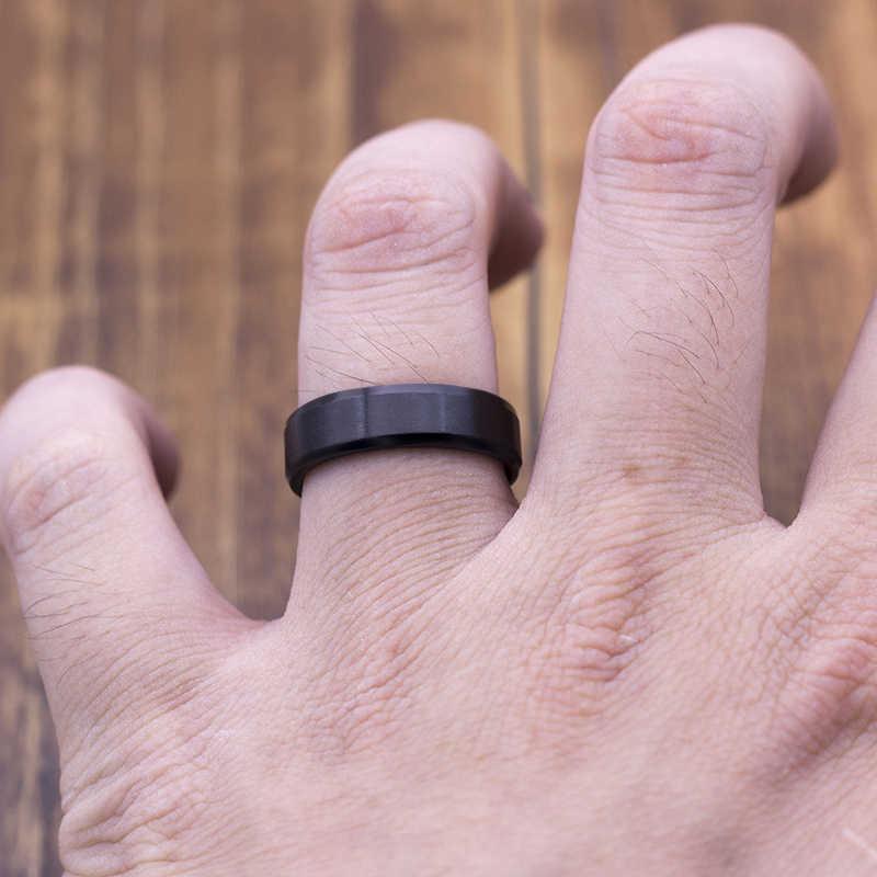 แฟชั่น Matt 316L แหวนสแตนเลสสำหรับผู้หญิง 2018 เครื่องประดับขายส่งของขวัญ Dropshopping