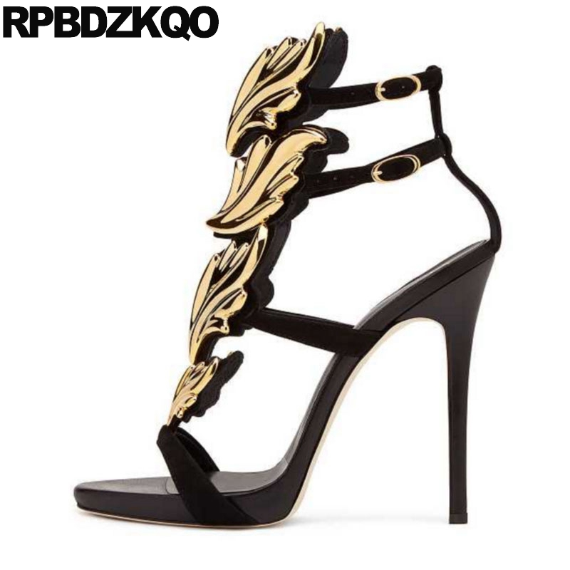 Designer Sandals Women Luxury 2017 Stiletto Shoes Gladiator Extreme Wing Embellished Large Size High Heels Open Toe Runway PumpsDesigner Sandals Women Luxury 2017 Stiletto Shoes Gladiator Extreme Wing Embellished Large Size High Heels Open Toe Runway Pumps