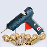 150W Long Copper Nozzle Hot Melt Glue Gun Adjustable Temperature for 11mm Glue Sticks Professional Indusrial Adhesive Glue Gun