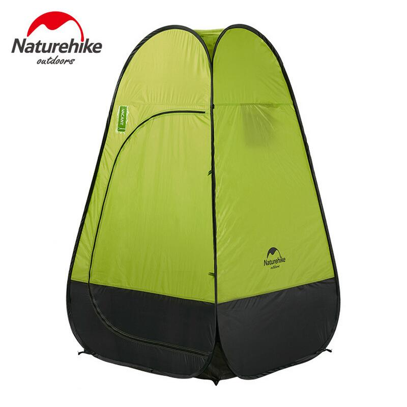 Naturehike camping outdoor toilet tent portable shower folding tent automatic ultralight fishing tents camping equipment portable shower tent outdoor waterproof tourist tents single beach fishing tent folding awning camping toilet changing room