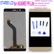 Starde 5.2 Inch LCD with Frame for HUAWEI P9 Lite Lcd Display Touch Screen Digiziter Assembly 1920*1080 + Free Tools VNS-L31 L21 white black gold for huawei ascend mate s lcd display screen touch digiziter assembly with frame free shipping