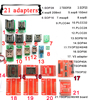 21 Pcs Universal Adapters Kits For Programmer For TL866A TL866cs Adapter