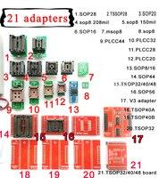 21 stücke Universal adapter kits für Mini pro high speed TL866II plus XP8710 usb programmierer IC chip sockel-in Integrierte Schaltkreise aus Elektronische Bauelemente und Systeme bei
