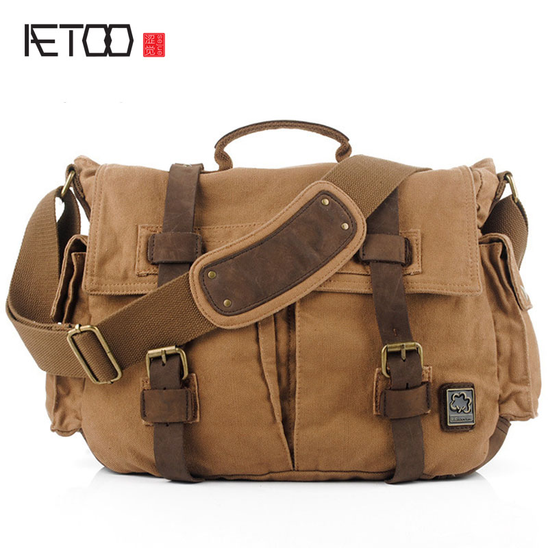 AETOO Europe and the United States oblique cross package canvas bag brand canvas bag Messenger bag