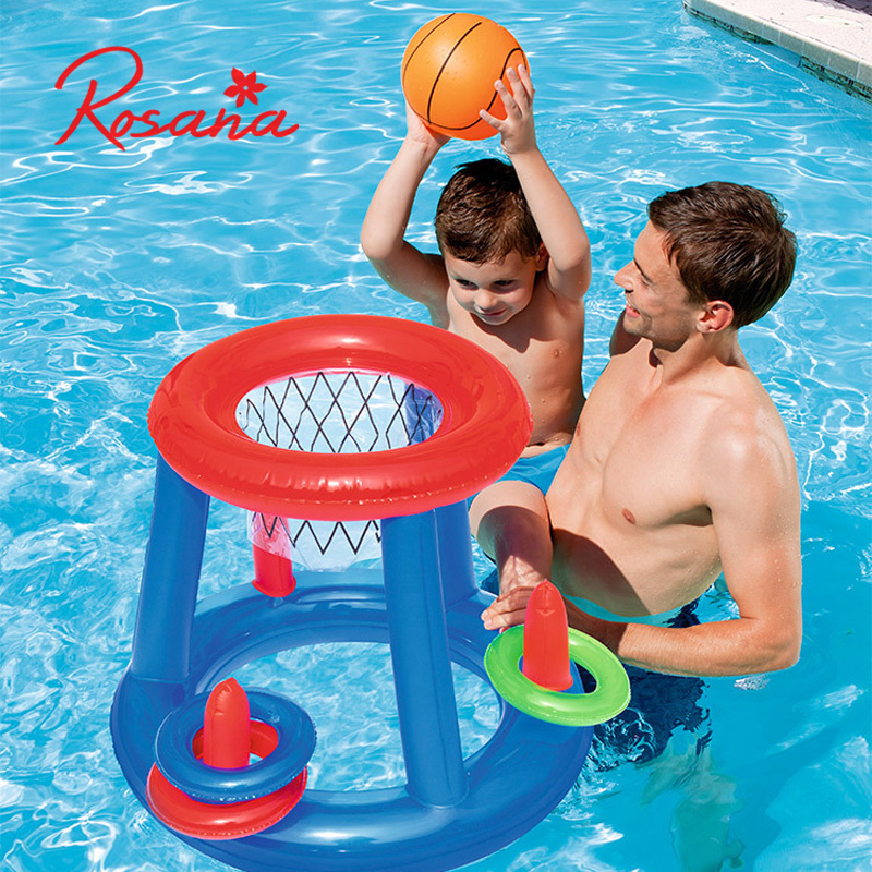 Summer Swimming Toys Giant Inflatable Volleyball Soccer Ball Game Pool Float Water Sport Island Floating Mattress Party Game Toy