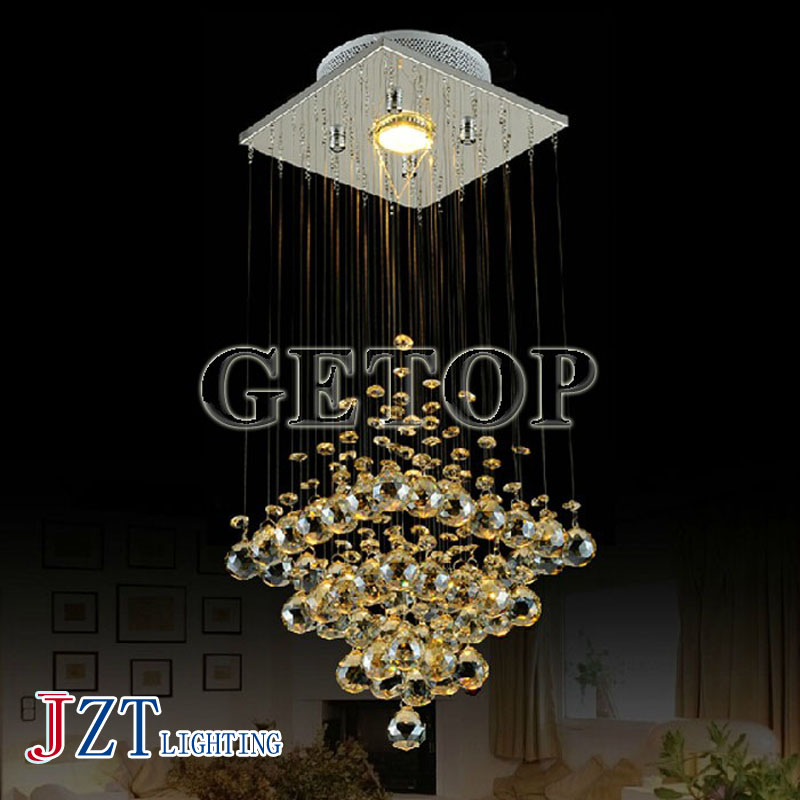 J best price Modern Crystal Lamp Hanging Wire Ceiling Light LED Crystal Lights Stair Lamp Restaurants Bedroom bright droplight best price creative pyramid crystal light bedroom restaurant lamp led hanging wire crystal lamp ceiling lights free shipping