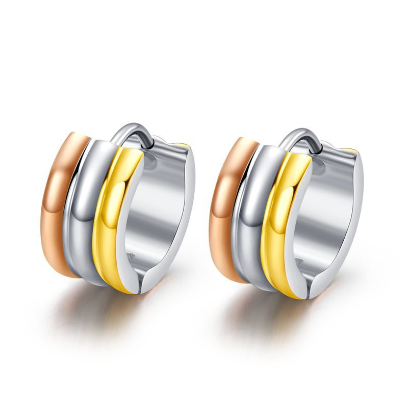 2018 Real Sale Aretes Oorbellen Punk Small Hoop Earrings For Women Brincos Stainless Steel Fashion Jewelry Basketball Wives