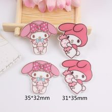 10pcs/lot kawaii resin cabochons accessories for hair clothing shoes planar resin cat with candy(China)